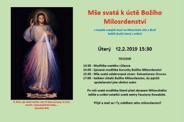 Mše svatá kúctě Božího Milosrdenství
