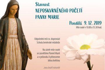 Slavnost Neposkvrněného Početí Panny Marie